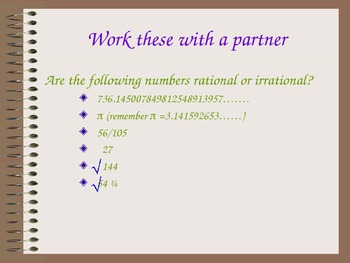 How do I determine if a number is rational or irrational PowerPoint