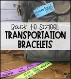 Back to School Transportation Tags | Transportation Bracelets