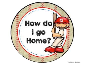 How do I go Home Chart - Baseball Theme
