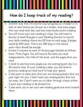 How do I keep track of my reading? Minilesson, poster, printable