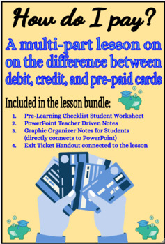 How do I pay? Learning the difference between credit, debit, and pre-paid cards.