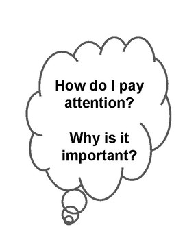 How do I pay attention? Why its important Activity 4 pages