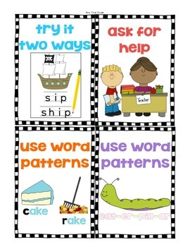 """""""How do I spell...?"""" Spelling Support Posters"""