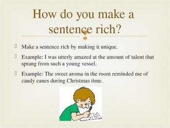How do I use RICH Sentences?