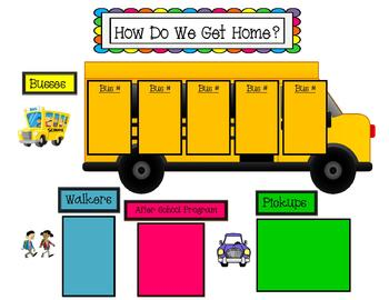 """How do My Students Go Home""  transportation form"