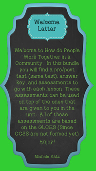 How do People Work Together in a Community? Unit 4