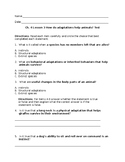 How do adaptations help animals? Ch. 4 Lesson 3 Test