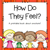 """How do they Feel?"" printable book to help children identify emotions"