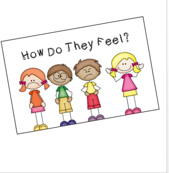 """""""How do they Feel?"""" printable book to help children identify emotions"""