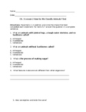 How do we classify animals? Test Ch. 3 Lesson 2