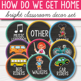 How do we get home - Bright Chalkboard Classroom Decor