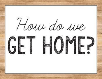 How do we get home - Farmhouse Classroom Decor