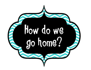 How do we go home? Blue and Green Chevron