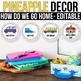 How do we go home EDITABLE, Pineapple Classroom Decor, Pineapple Theme Decor