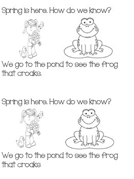 How do we know it is spring? Emergent reader
