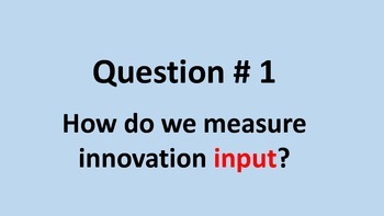 How do we measure innovation?