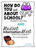 How Do You Feel About School Student Survey & Parent Information Sheet