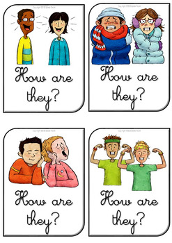 Emotions and Feelings Flashcards with Verb Be