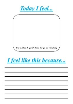 How do you feel today worksheet