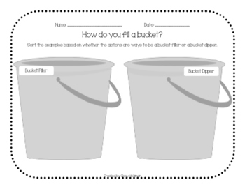 How do you fill a bucket?