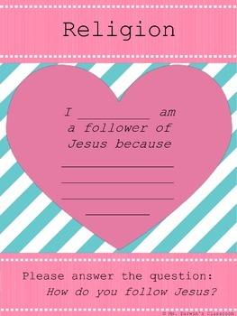 How do you follow Jesus - Activity