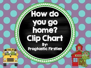 How do you go home? Transportation Clip Chart/Frog Theme