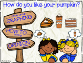 How do you like your pumpkin? ~ Math Graphing & Writing for Thanksgiving