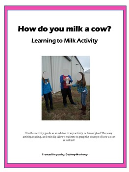 How do you milk a cow? Learn to milk activity!