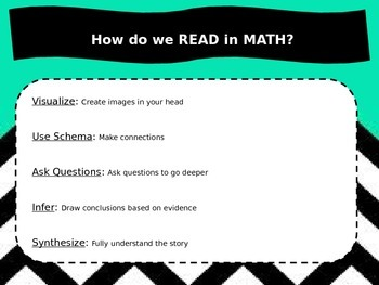 """""""How do you read in math?"""" poster"""