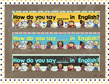 How do you say ... in English banners