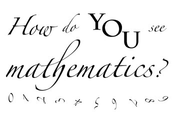 How do you see mathematics? poster decoration