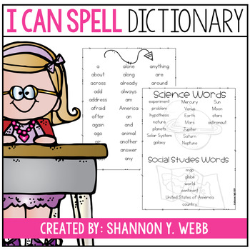 How do you spell? {Student Dictionary}