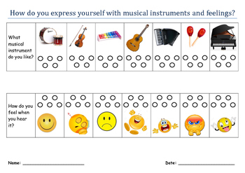 How do yoy express yourself with musical instruments and feelings?