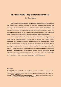 How does BeeBOT help student development?