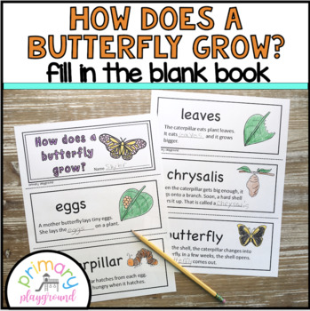 How Does a Butterfly Grow? Fill In the Blank Book