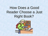 How does a reader choose an appropriate book? Powerpoint