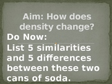 How does density change