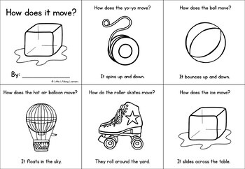 How does it move? A sight word mini book - FREE