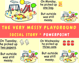 Social story - messy playground / trash / environment
