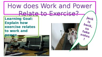 How does work and power relate to exercise?