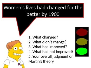 How far did women's lives change before 1900?