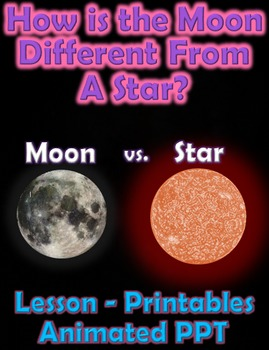 How is The Moon Different From A Star? (Powerpoint and Lesson)
