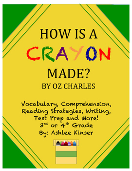 How is a Crayon Made? - Vocabulary, Science, Interactive Notebook, Comprehension