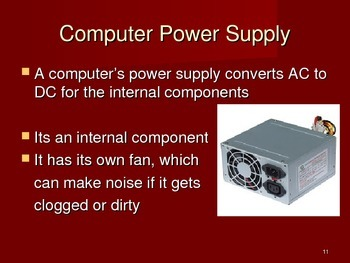 How is electricity used in a computer. What does a power supply do ...
