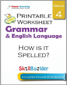 How is it Spelled? Printable Worksheet, Grade 4