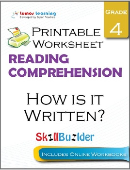 How is it Written? Printable Worksheet, Grade 4
