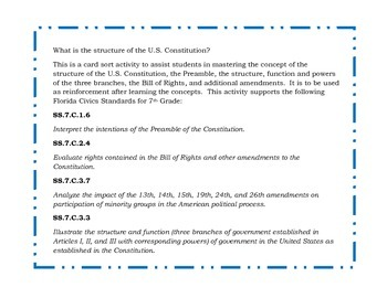 How is the Constitution Structured?