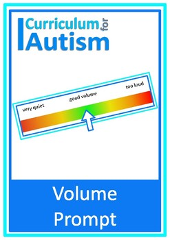 """Autism Visual Prompt Card """"How Loud Is My Voice?"""", Speech Therapy"""