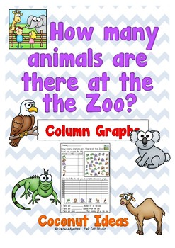 How many Animals at the zoo?- Column Graphs