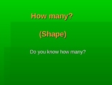 How many? Basic plane shapes PP presentation, sides and angles